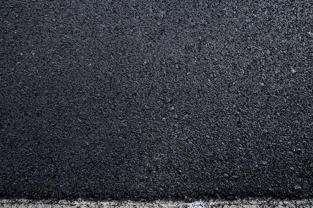 Gros plan de la texture de la route goudronnée