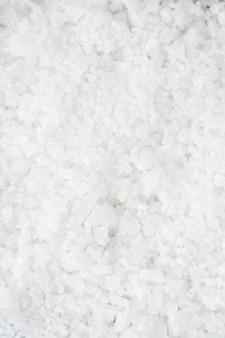 Gros plan de la texture de sel