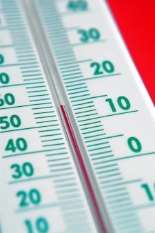 Gros plan, thermomètre