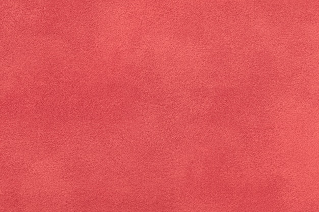 Gros plan en tissu daim rouge foncé