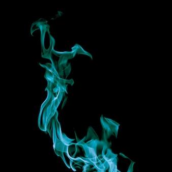 Gros plan, tourbillonnant, bleu, feu