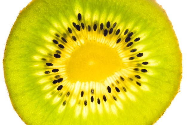 Gros plan, de, tranche kiwi
