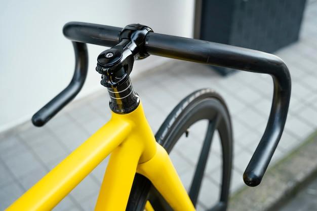 Gros plan vélo à l'extérieur