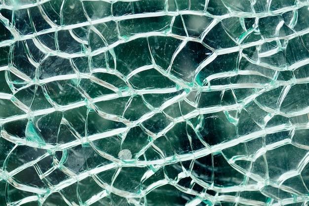 Gros plan de verre brisé