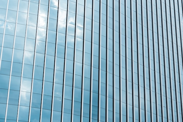 Gros plan verre conçu bâtiment