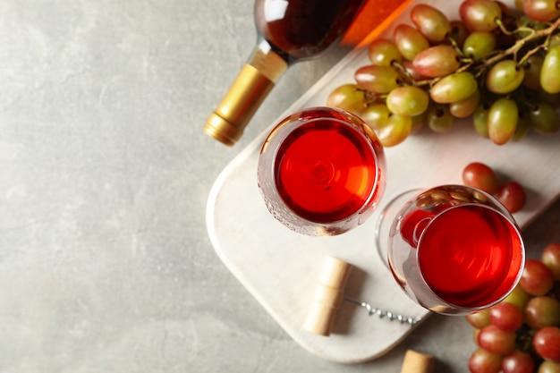Gros plan, de, verres vin rouge
