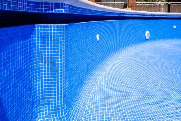Gros plan, de, vide, piscine