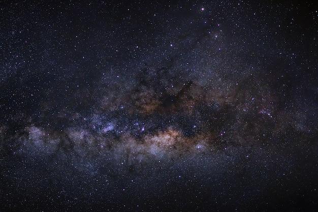 Gros plan, de, voie lactée, galaxie