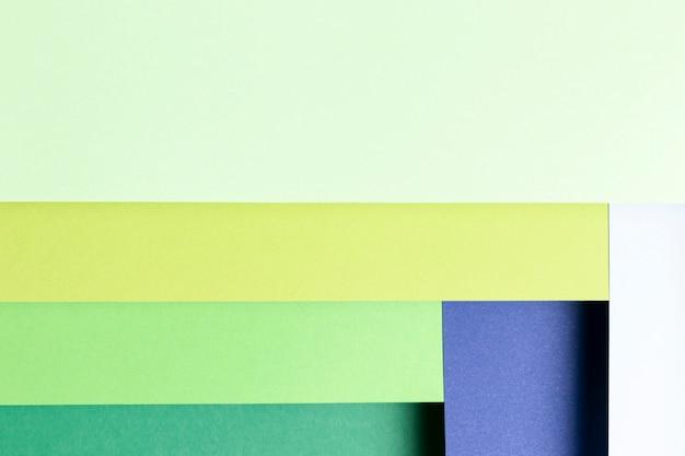 Gros plan de la vue de dessus des couleurs froides