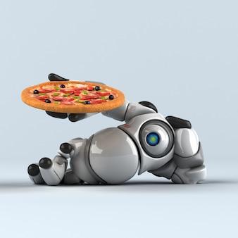 Gros robot - illustration 3d