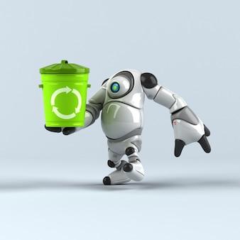 Gros robot - personnage 3d