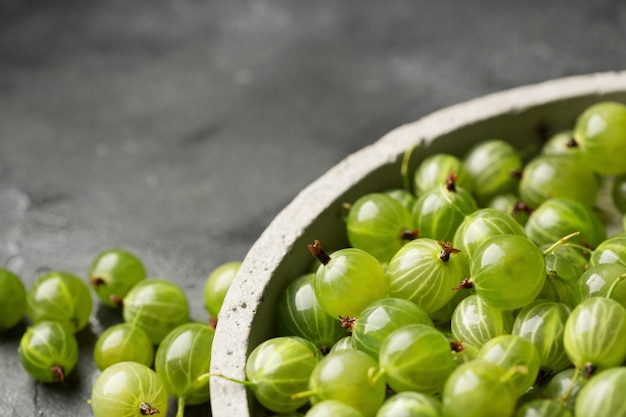 Groseilles mûres vertes