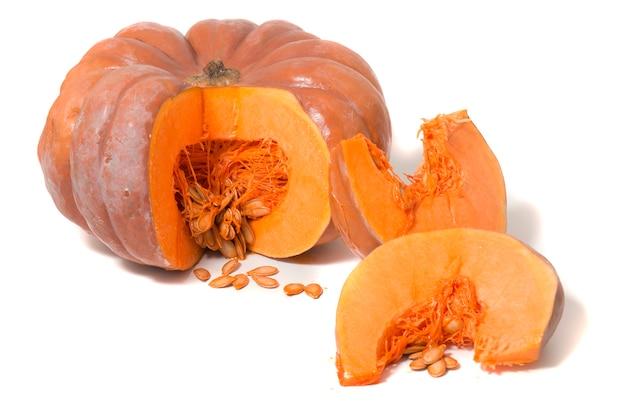 Grosse citrouille orange