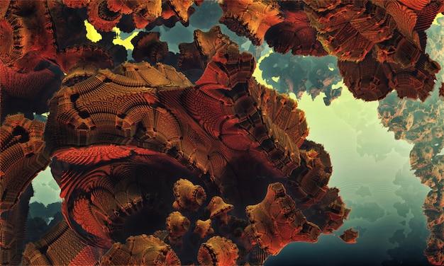 Grotte rocheuse abstraite