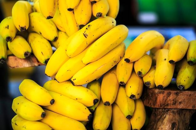 Groupe de bananes des îles canaries.