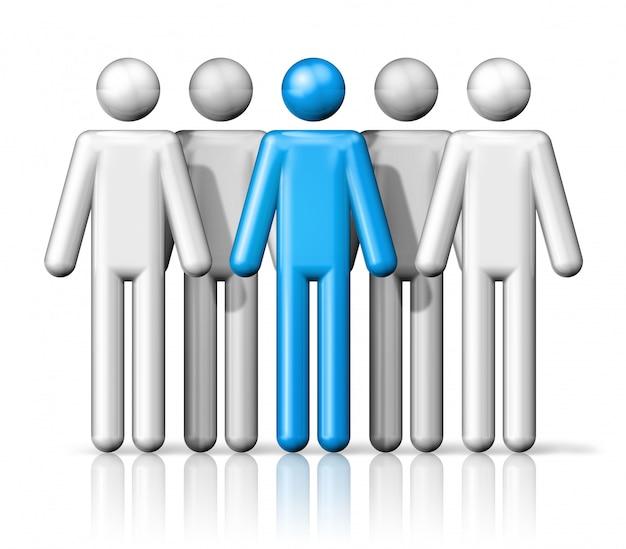 Groupe de bâton chiffres personnes