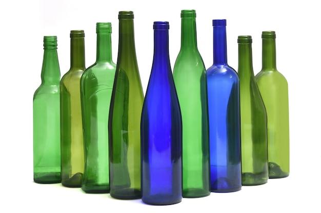 Groupe de bouteille sur fond blanc
