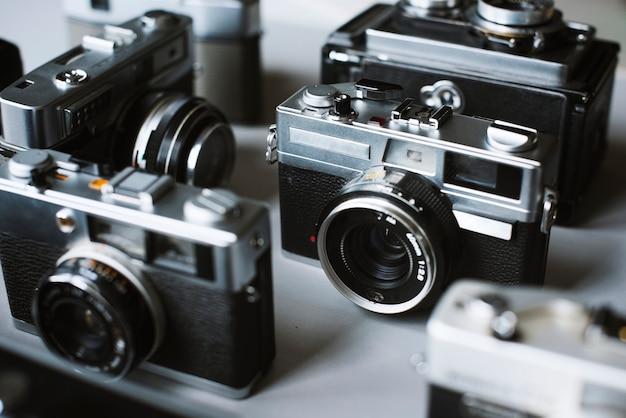 Groupe de caméras de cinéma vintage