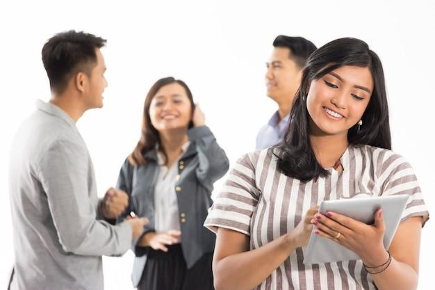 Groupe de concept de jeune entreprise