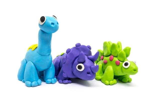 Groupe de dinosaures playdough