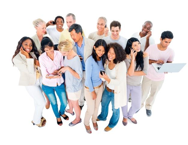 Groupe diversifié de personnes
