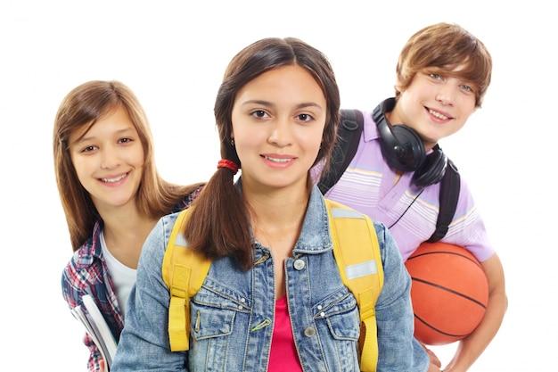 Groupe d'étudiants à l'école