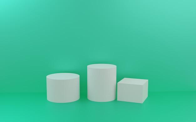 Groupe de forme géométrique abstraite de rendu 3d