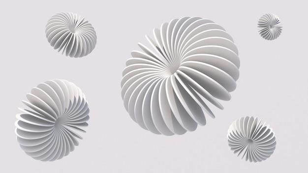 Groupe de formes de cercle blanc. illustration abstraite, rendu 3d.