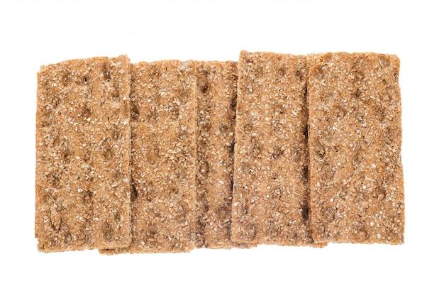 Groupe de galettes de pain isolées