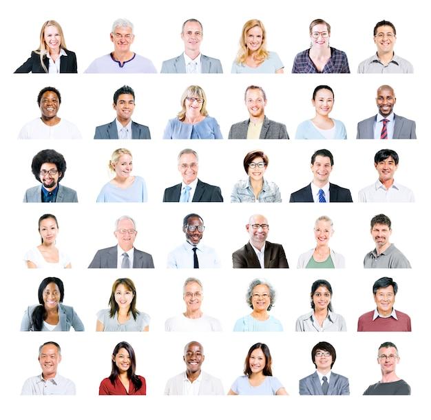 Groupe de gens d'affaires multiethnique divers