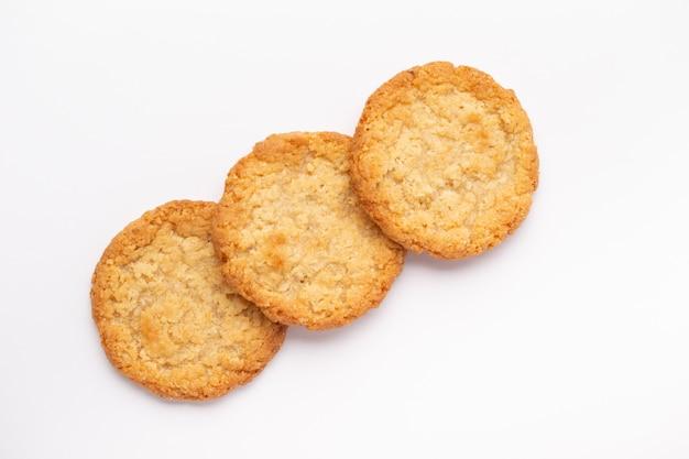 Groupe de gros plan de biscuits à l'avoine