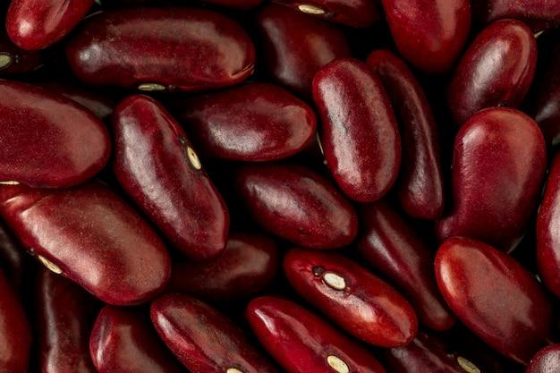 Groupe de haricots rouges se bouchent