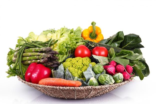 Groupe de légumes frais