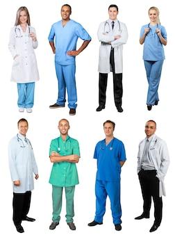 Groupe de médecins et d'infirmières