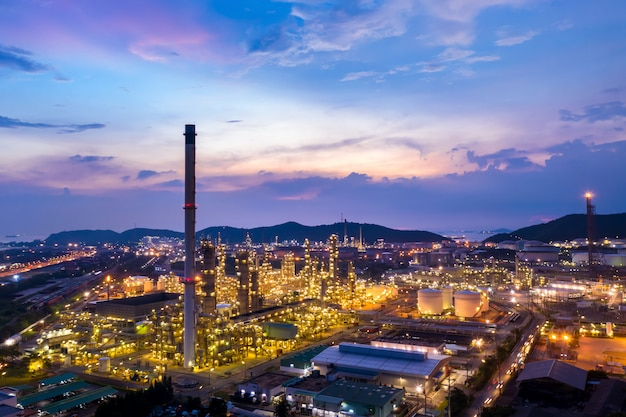 Groupe raffinerie de produits pétroliers et gaziers province de chonburi en thaïlande