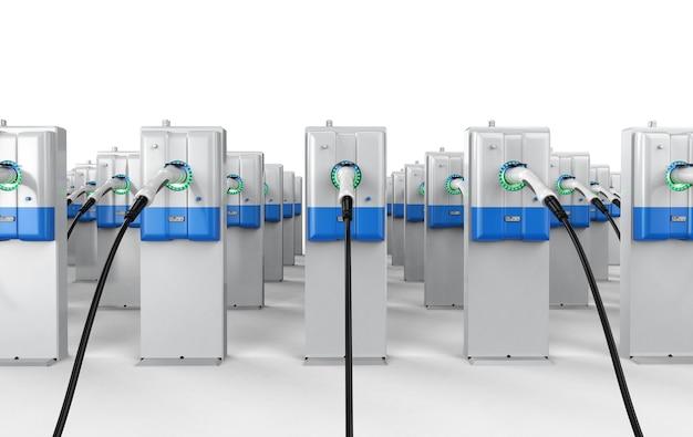 Groupe de rendu 3d de stations de recharge ev ou de stations de recharge de véhicules électriques