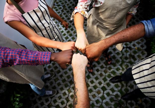 Groupe de soutien communautaire ensemble social