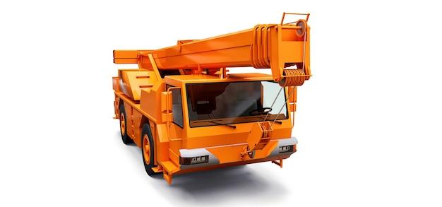 Grue mobile orange. illustration en trois dimensions. rendu 3d.
