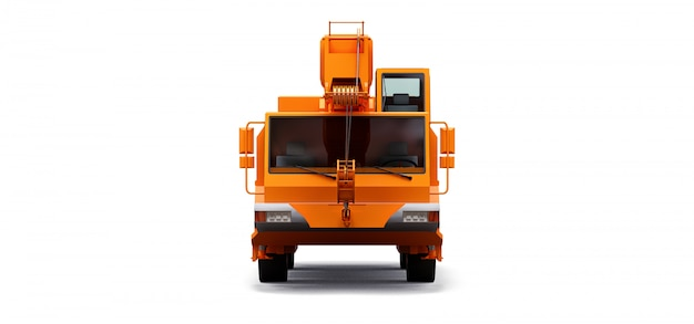 Grue mobile orange. illustration en trois dimensions