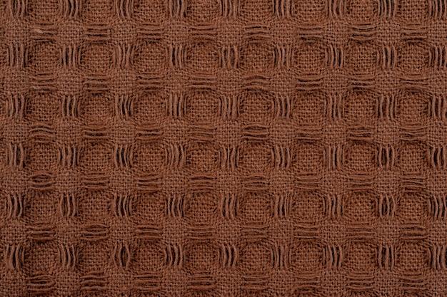 Grunge beige gaufre tissage arrière-plan en vue macro, gaufre avec espace de copie de texture visible