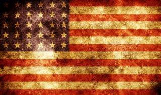Grunge drapeau américain