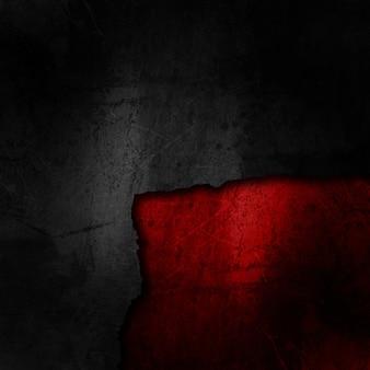 Grunge fond noir sur une texture rouge sale