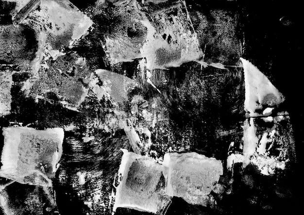 Grunge ink texture noir et blanc grand spot abstrait artistique brossé à la main