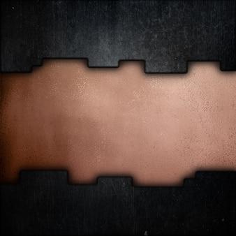 Grunge metal sur une texture d'or rose métallique