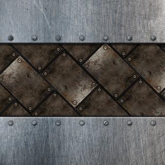 Grunge métallique avec des rayures et des taches