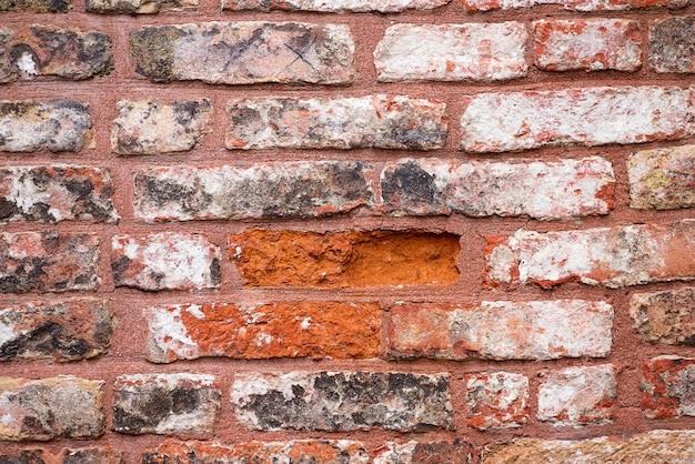 Grunge sale vieux mur de pierre de brique extérieur sur l'architecture du temple antique