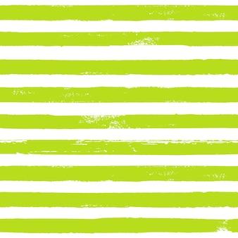 Grunge vert et blanc abstrait motif rayé à la main. fond blanc avec des rayures horizontales d'herbe de ligne de brosse. illustration à l'encre. impression pour textile, papier peint, emballage.