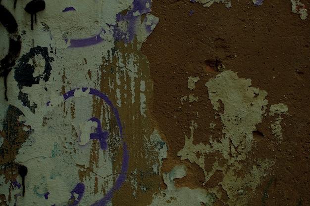 Grungy vieux fond de mur endommagé brun sale