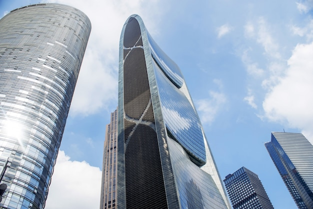 Guangzhou, chine- nov.22, 2015: les bâtiments modernes. buildin moderne