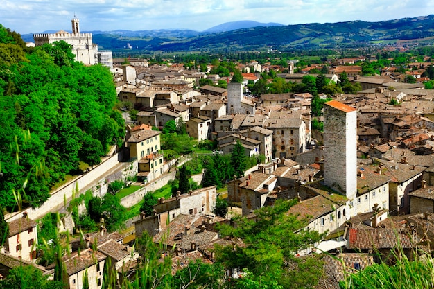 Gubbio, ville médiévale en ombrie, italie